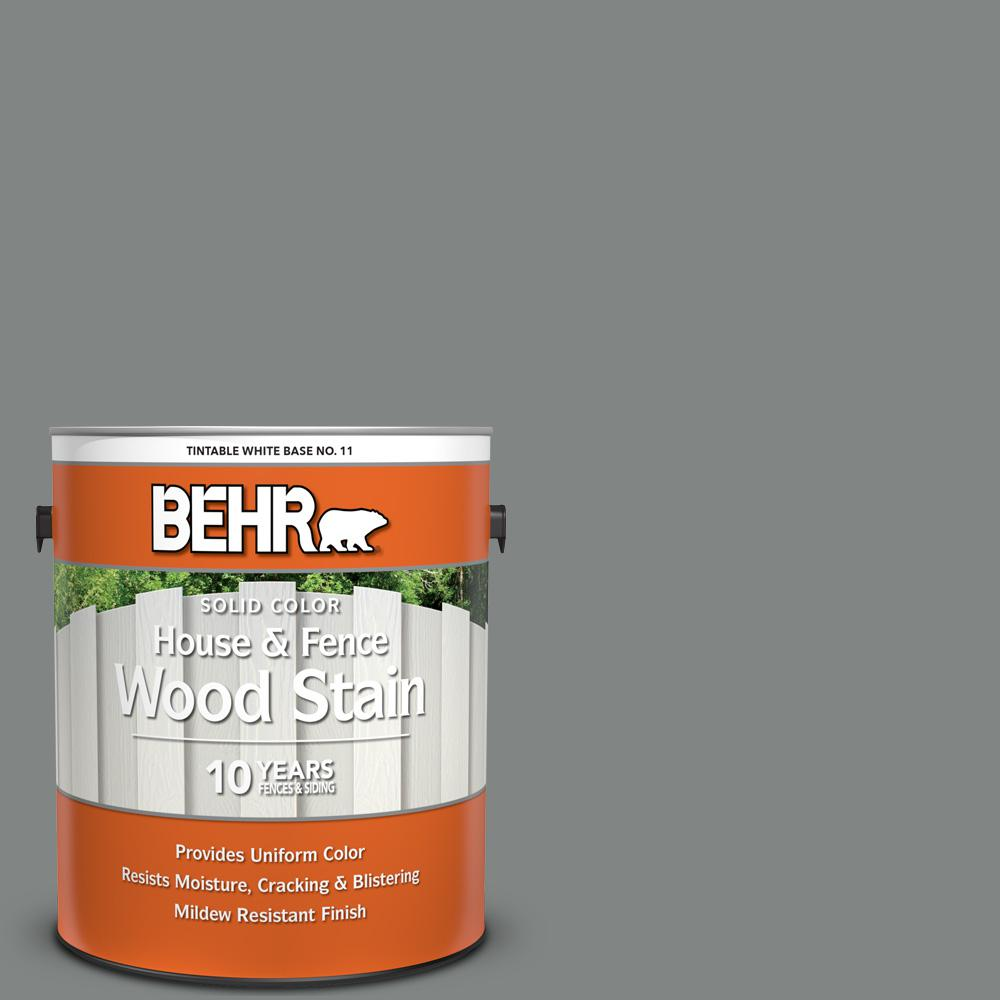 BEHR 1 gal. #6695 Slate Gray Solid Color House and Fence Exterior Wood Stain