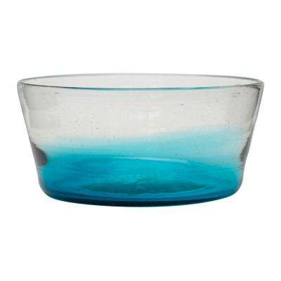Chico 76 oz. Glass Dog Bowl in Bluse (Set of 2)