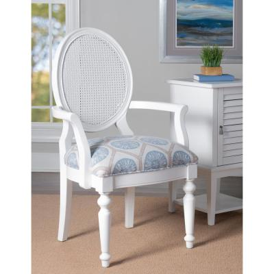 Lockhart White Accent Chair