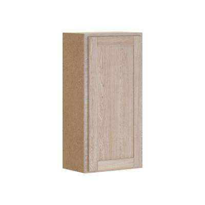 Stratford Assembled 18x36x12 in. Wall Cabinet in Unfinished Oak