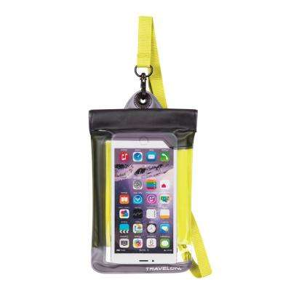 Yellow Waterproof Smart Phone Pouch