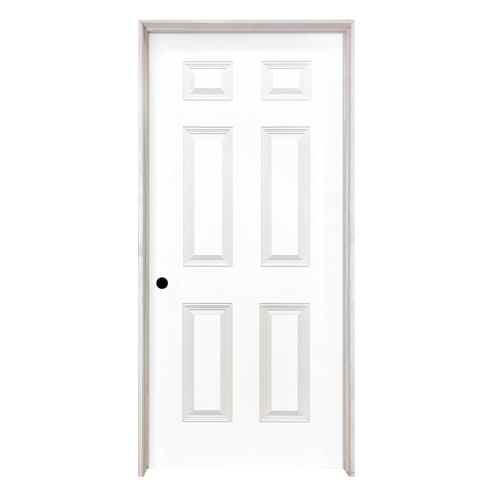 Steves Sons 24 In X 80 In 6 Panel Smooth Hollow Core Primed White Classic Composite Single