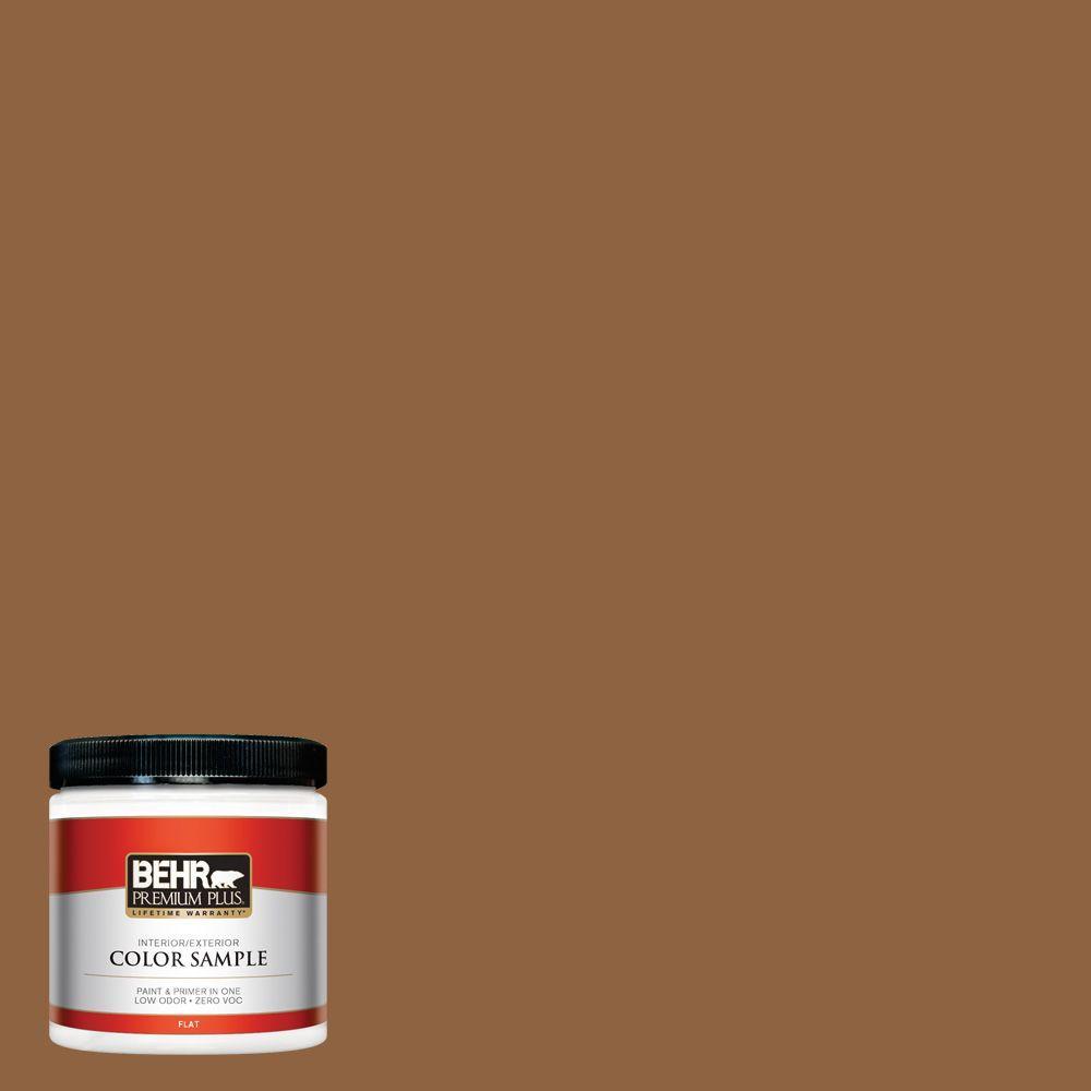 8 oz. #260F-7 Caramel Latte Interior/Exterior Paint Sample