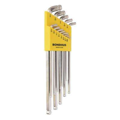 Standard Stubby Double Ball End L-Wrench Set with BriteGuard Finish (13-Piece)