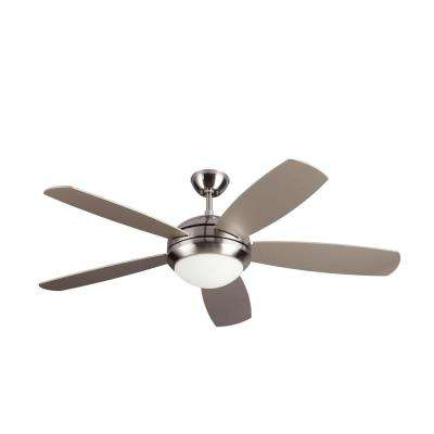 Discus ES 52 in. Indoor Brushed Steel Ceiling Fan