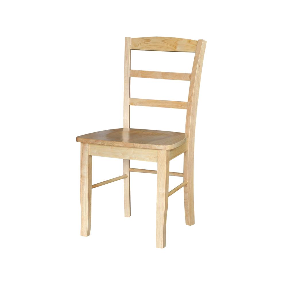 Sensational Madrid Natural Wood Dining Chair Set Of 2 Ibusinesslaw Wood Chair Design Ideas Ibusinesslaworg
