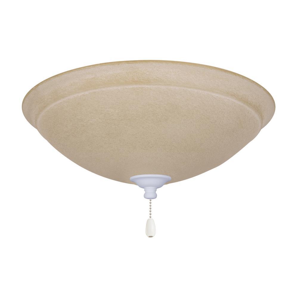 Ashton Amber Mist 3-Light Satin White Ceiling Fan Light Kit