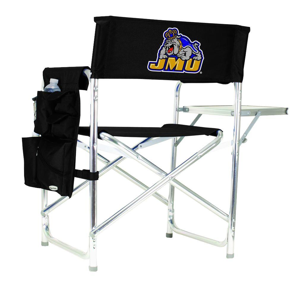 James Madison University Black Sports Chair with Digital Logo