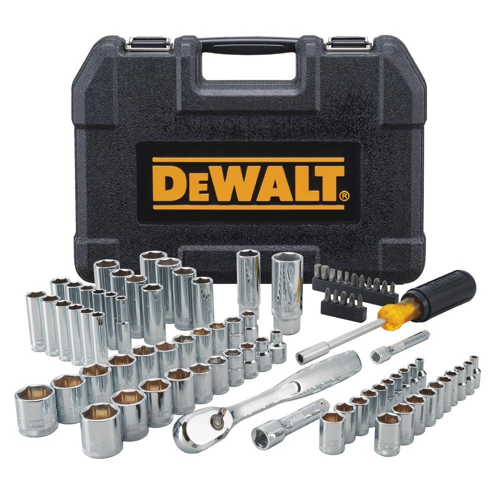 4746f79041b DEWALT Mechanics Tool Set (84-Piece)-DWMT81531 - The Home Depot