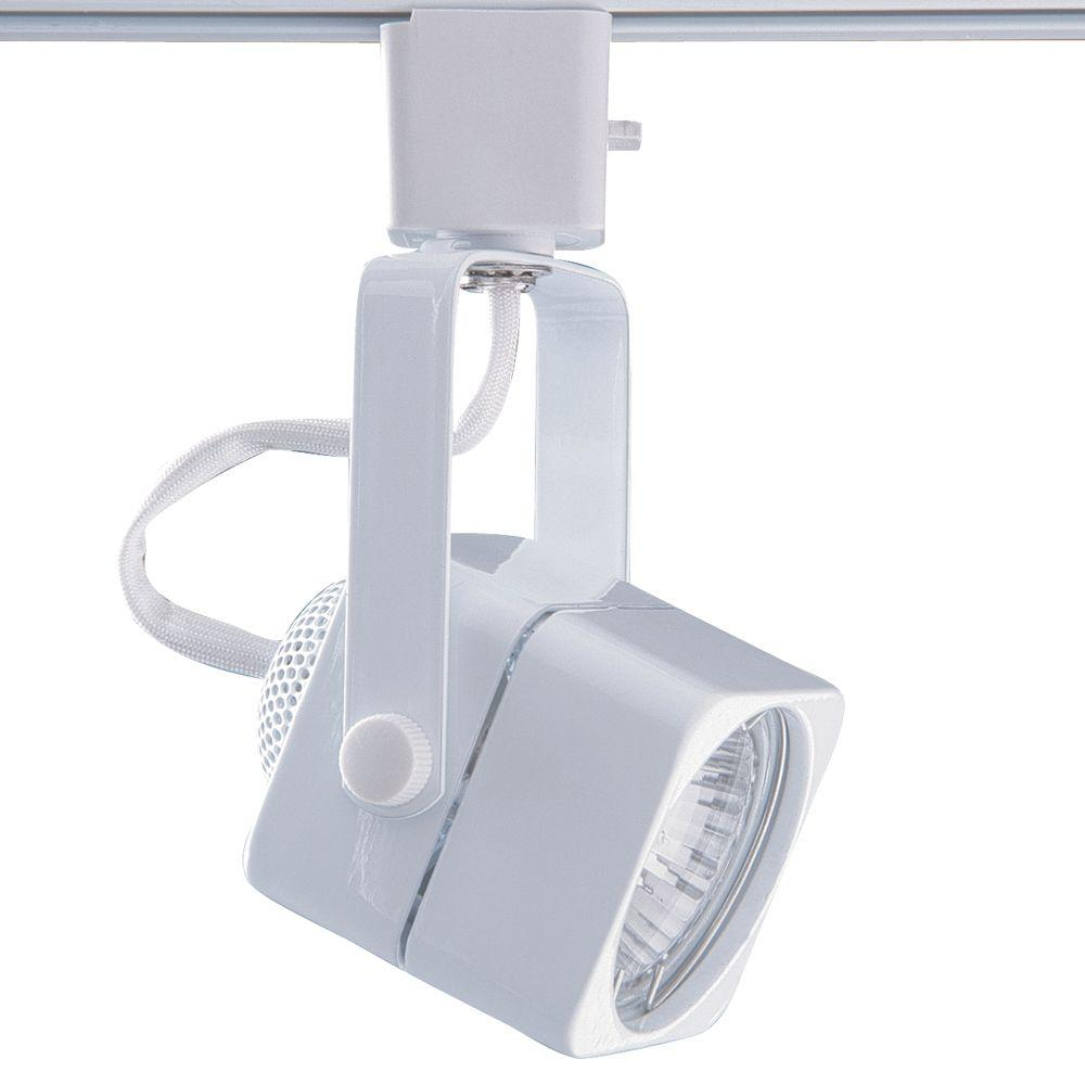 Designers Choice Collection Series 15 Line-Voltage GU-10 White Soft Square Track Lighting Fixture
