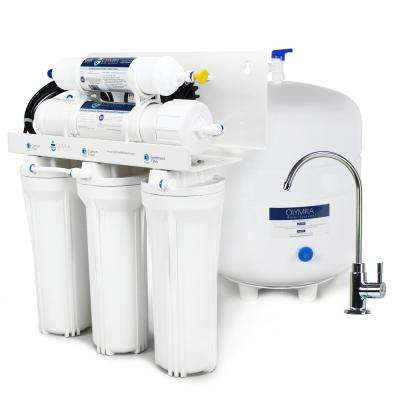 Permeate Pump Under-Sink Reverse Osmosis Water Filtration System with 50 GPD RO Membrane - for Low Water Pressure