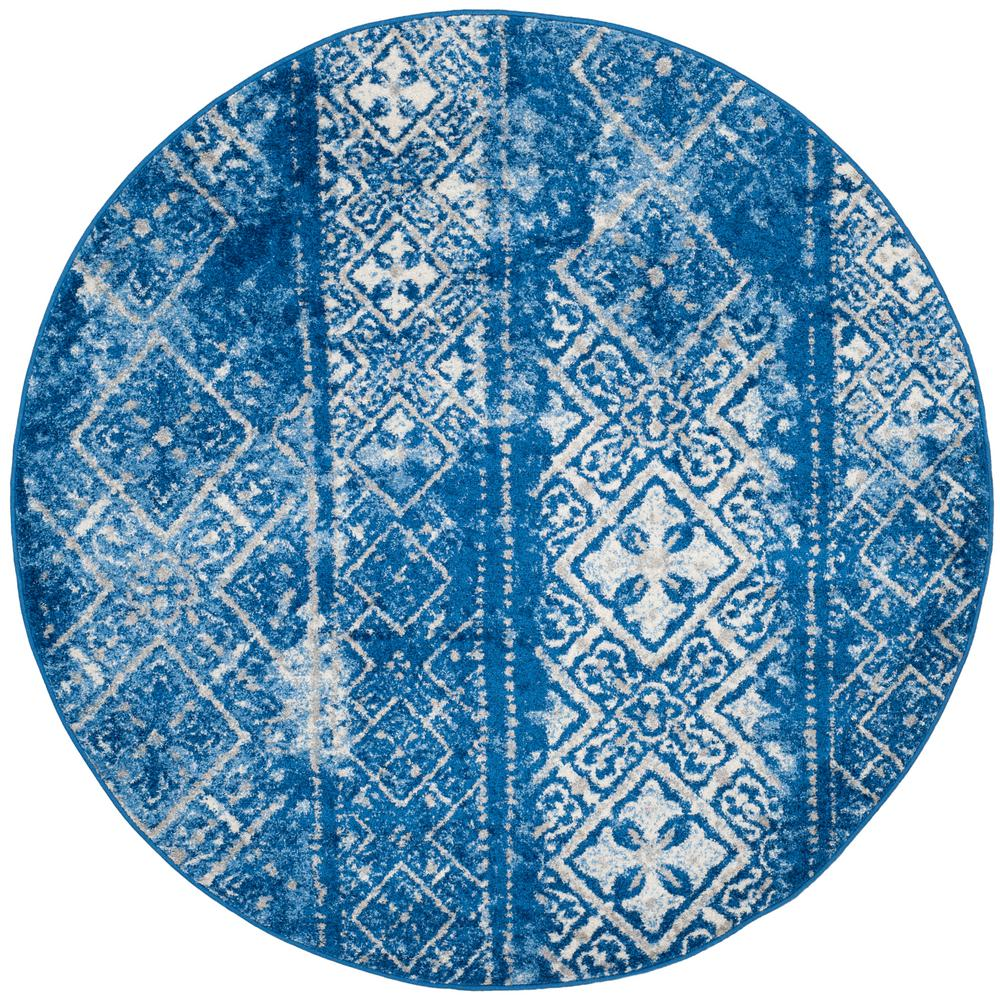 Captivating Safavieh Adirondack Silver/Blue 4 Ft. X 4 Ft. Round Area Rug