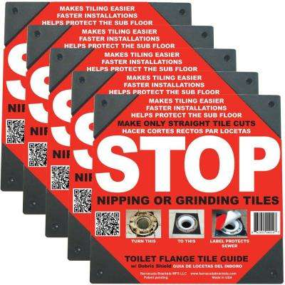 Toilet Flange Tile Guide (5-Pack)