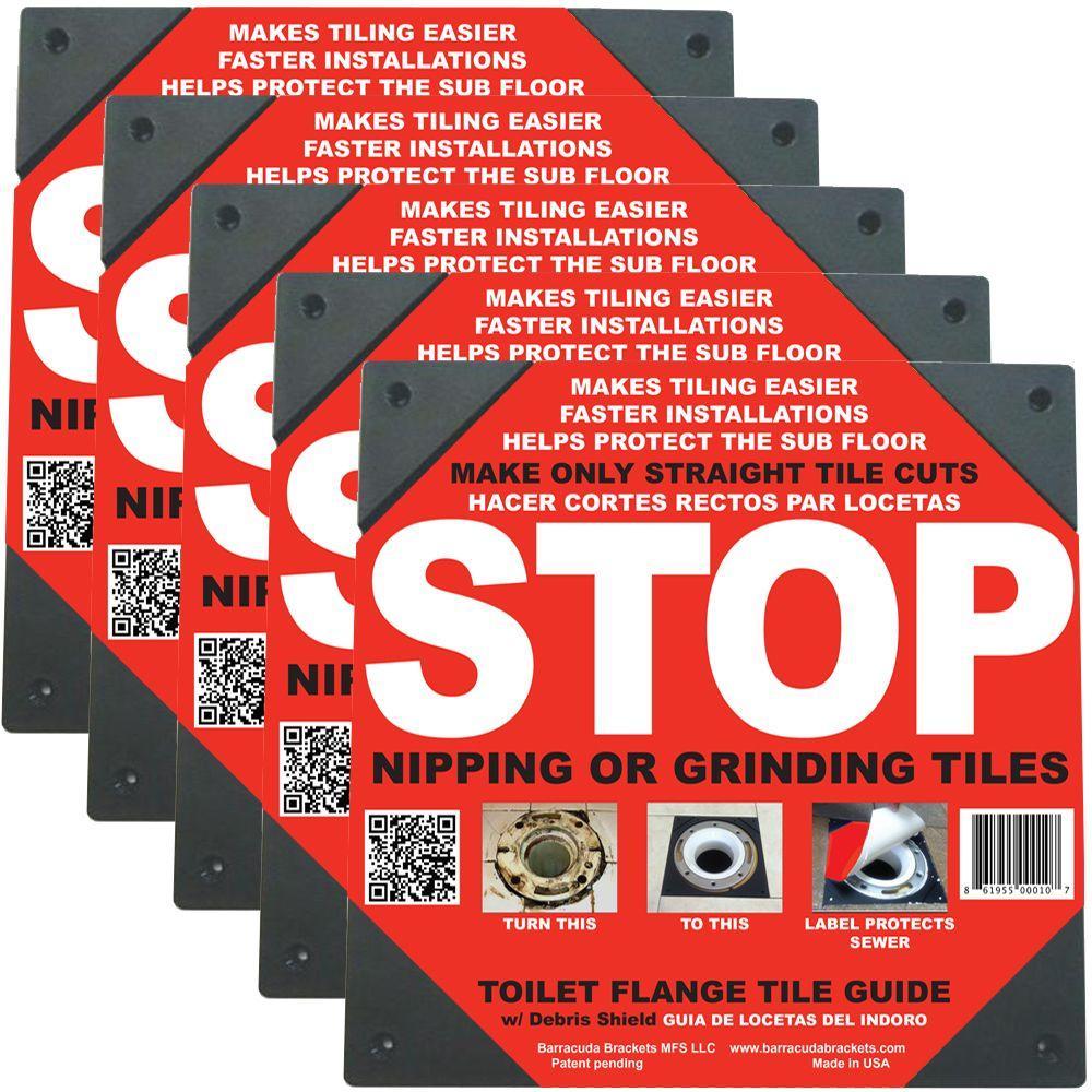 Toilet Flange Tile Guide (5-Pack)