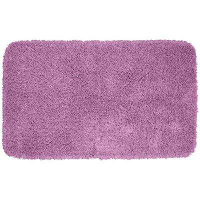 Jazz Purple 30 In. X 50 In. Washable Bathroom Accent Rug
