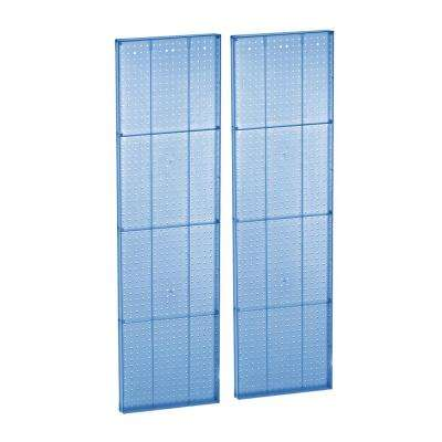 63 in. H x 16 in. W Pegboard Blue Styrene 1-Sided Panel (2-Piece)