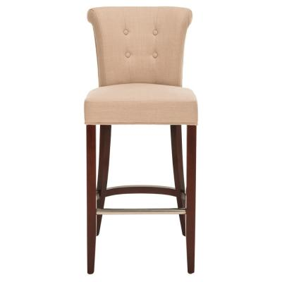 Addo 29.7 in. True Taupe Cushioned Bar Stool