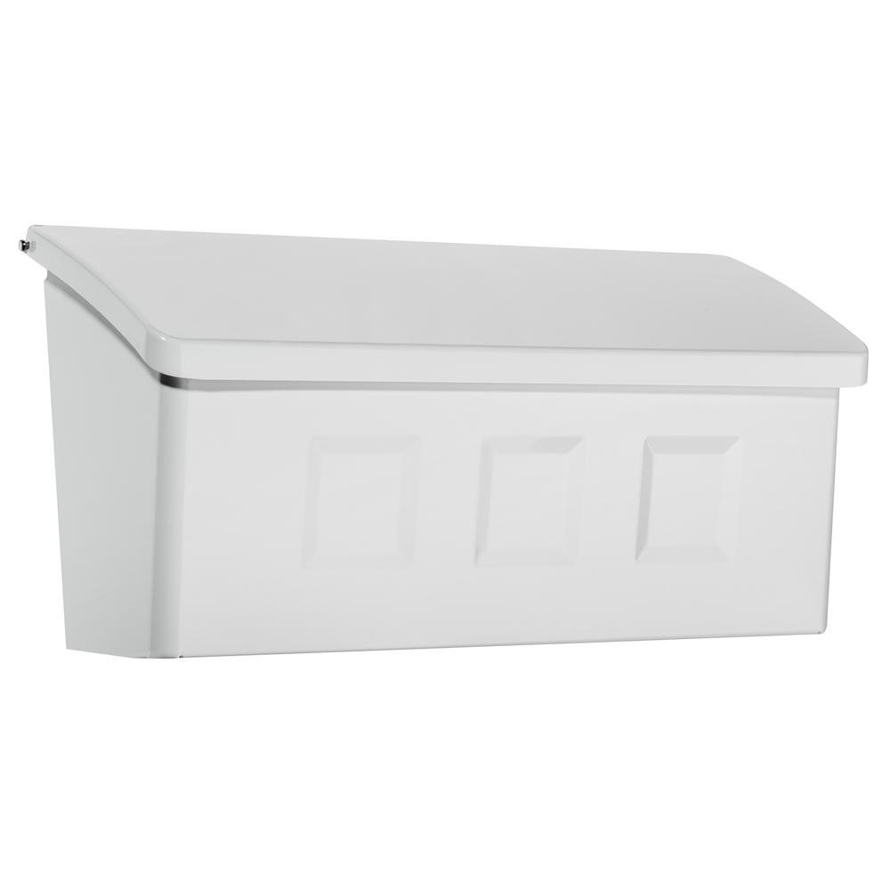 Architectural Mailboxes Wayland White Wall Mount Mailbox
