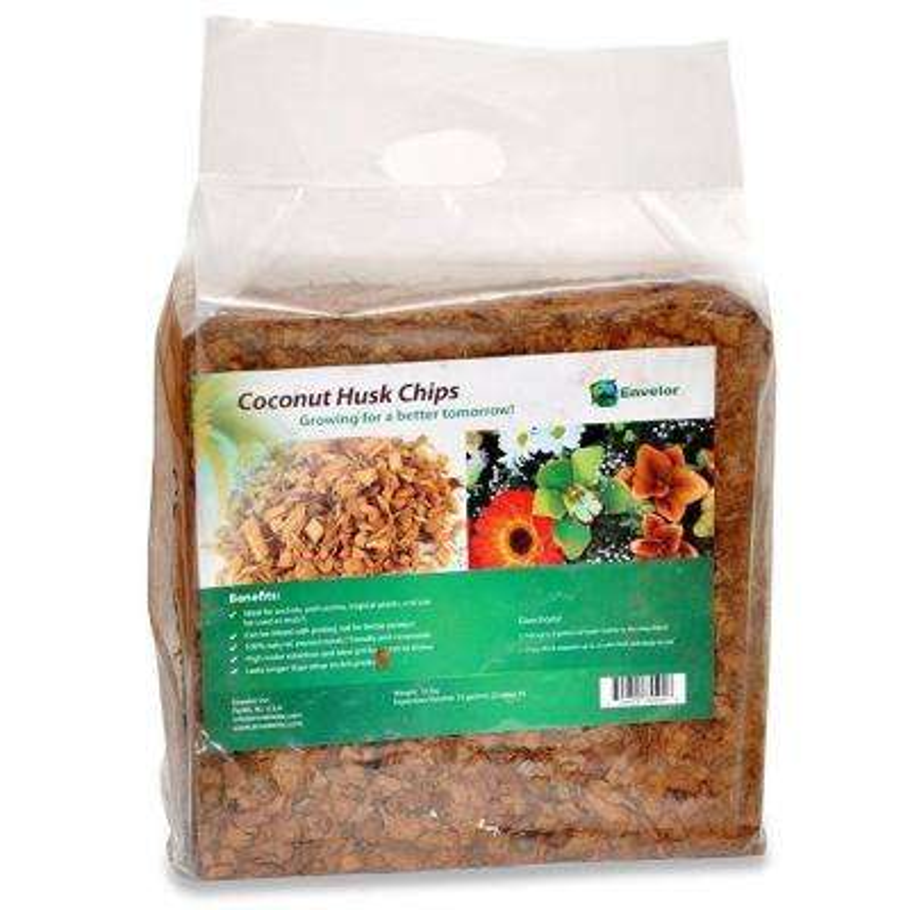 10 lbs. Natural Coco Coir Husk Chips Coconut Coir Fiber Mulch (2-Pack)