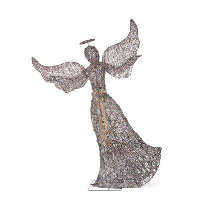 Meadow Frost 70 in. Christmas Brown PVC Angel with Open Arms