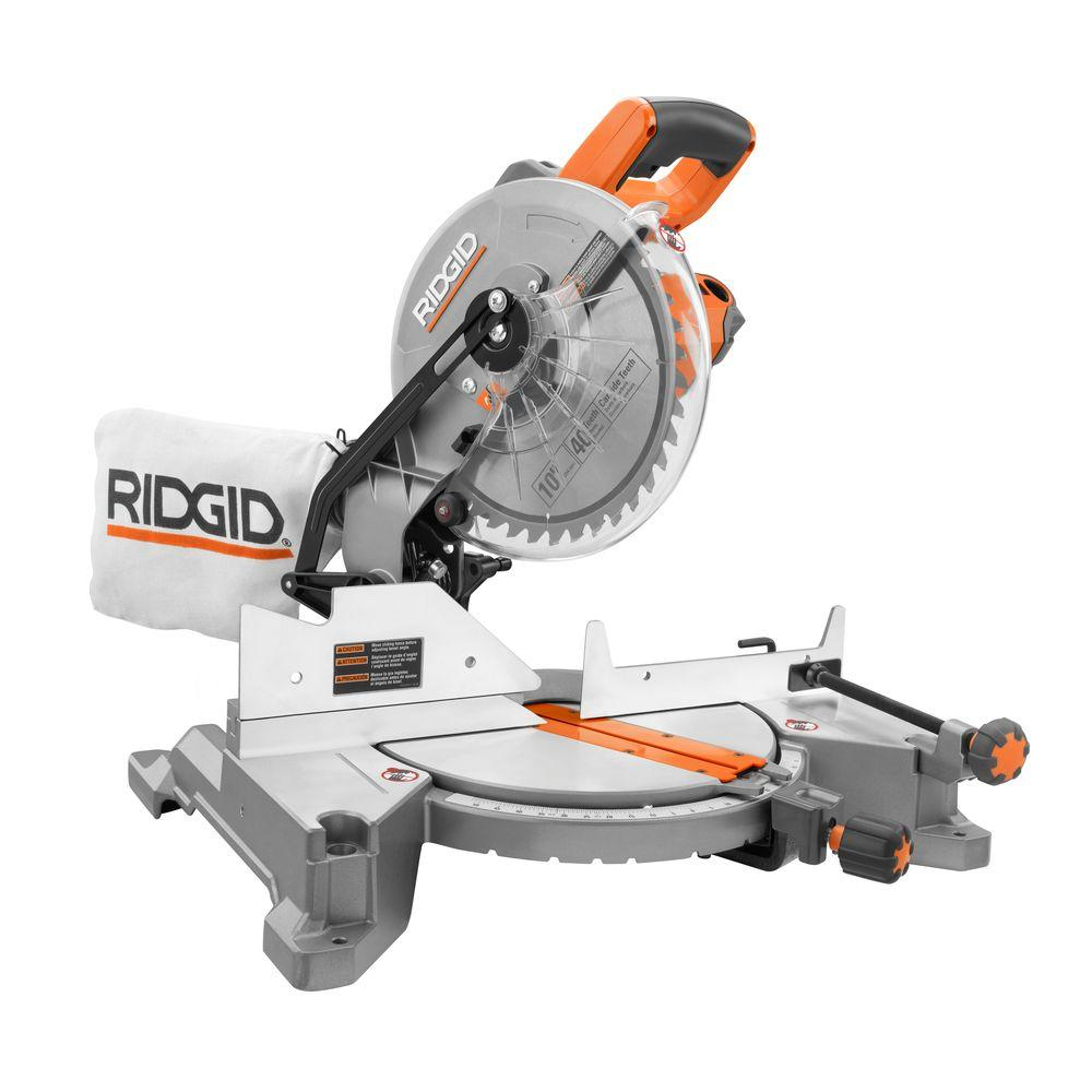 Ridgid 15 amp 10 in compound miter saw r4110 the home depot compound miter saw greentooth Image collections