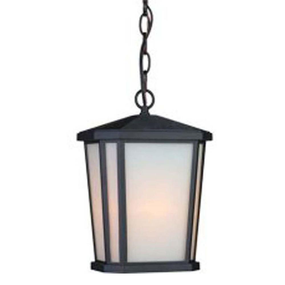 Rostovdon 1-Light Rich Black Outdoor Pendant