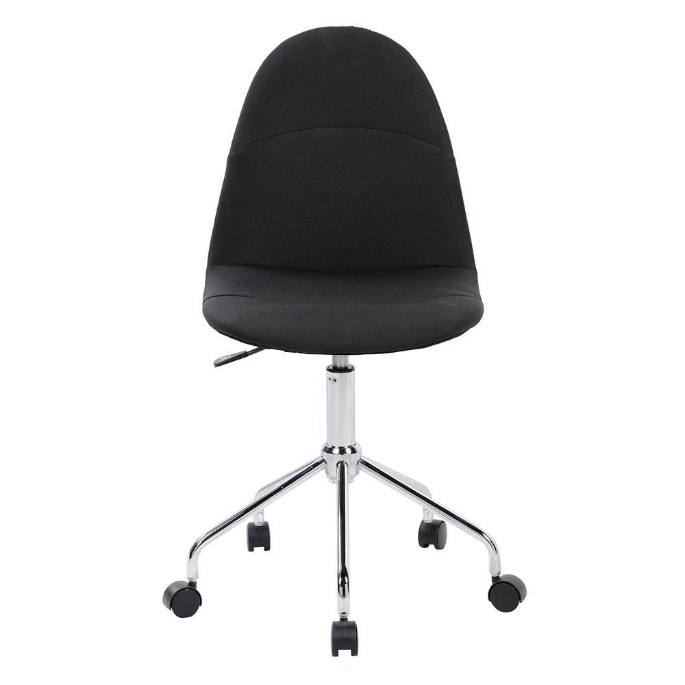 Black Armless Task Chair