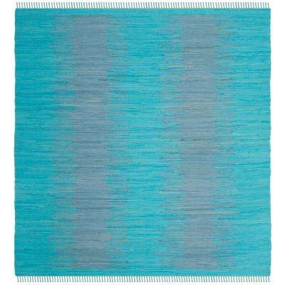 montauk turquoise 6 ft x 6 ft square area rug