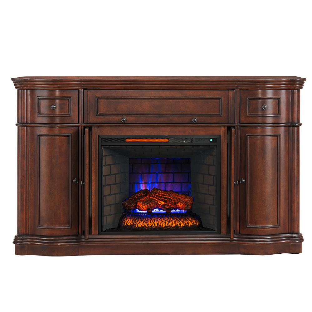 bold flame vanderbilt 68 in media console electric fireplace in