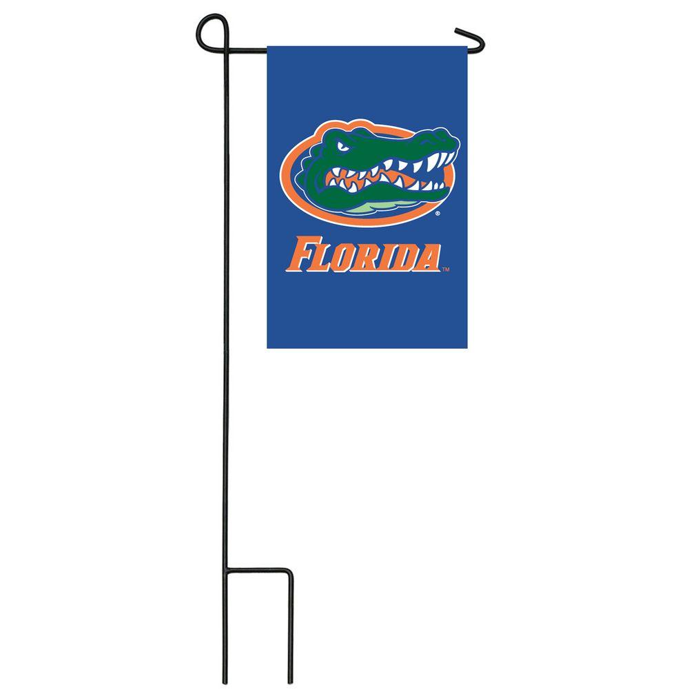 Team Sports America NCAA 12-1/2 in. x 18 in. Florida 2-Sided Garden Flag with 3 ft. Metal Flag Stand-DISCONTINUED