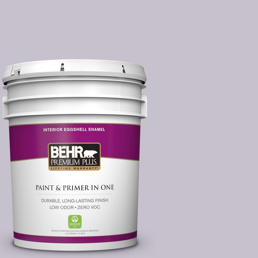 BEHR Premium Plus 5-gal. #660E-3 Foxgloves Zero VOC Eggshell Enamel Interior Paint