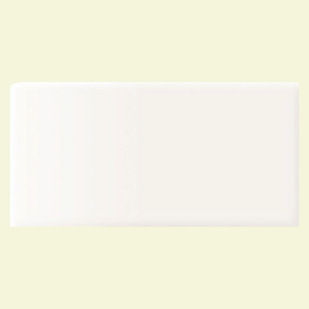 Daltile Rittenhouse Square Arctic White 3 in. x 6 in. Ceramic Bullnose Wall Tile (0.125 sq. ft. / piece)