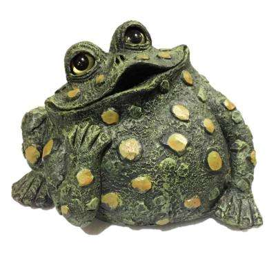 14 in. W. Toad Hollow X-Large Toad Dreamer Whimsical Home and Garden Statue