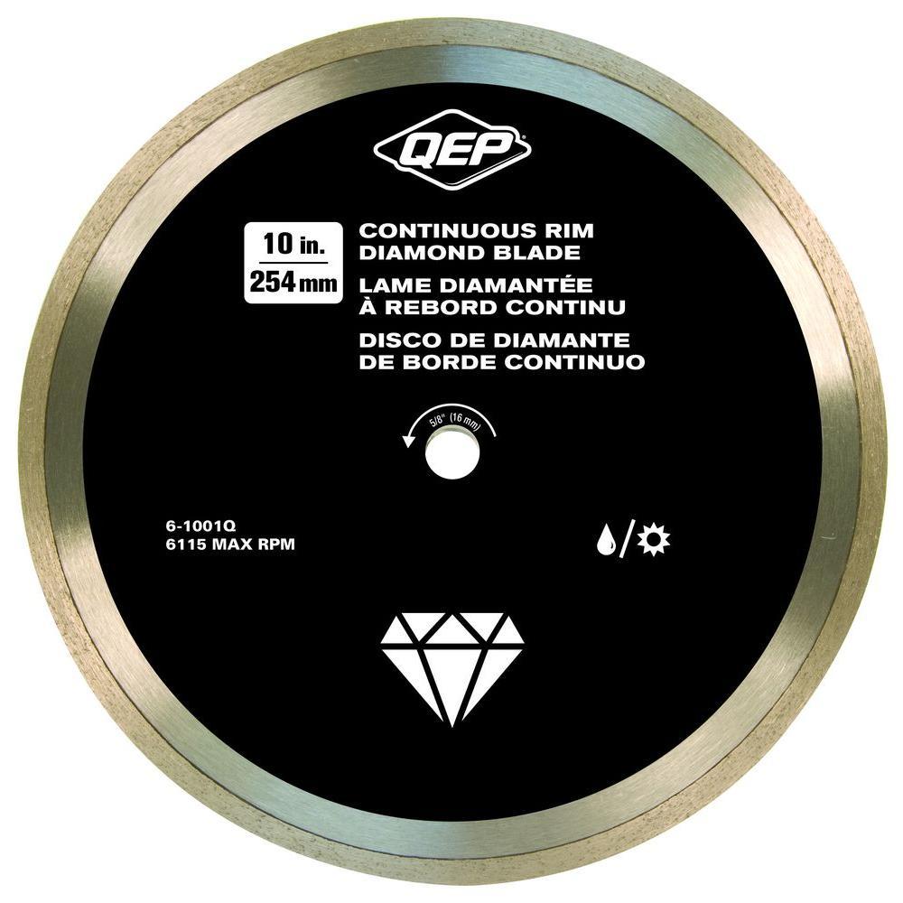 Qep 10 in. Diamond Blade for Wet Tile Saws for Ceramic Tile