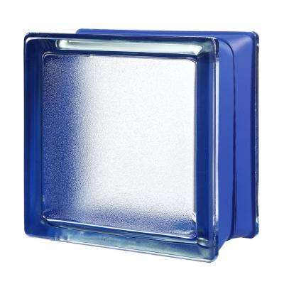 Blueberry 5.75 in. x 5.75 in. x 3.15 in. Classic Blue Glass Block (6-Pack)