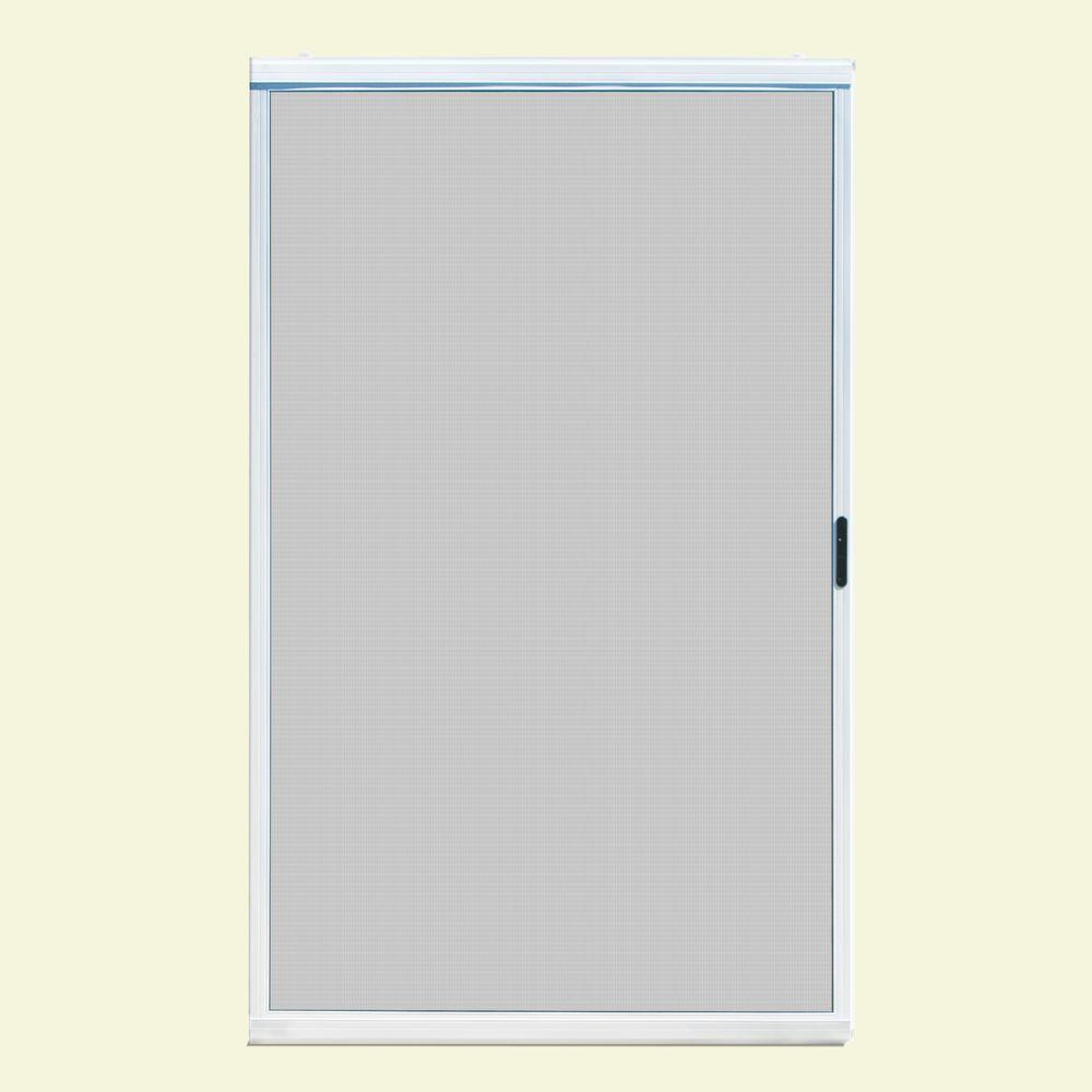 Unique home designs 48 in x 80 in ultimate white metal for Universal sliding screen door