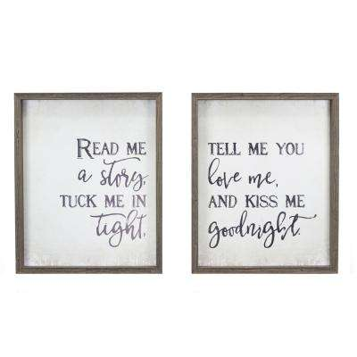"""""""Read Me A Story"""" Duo by KDM Framed Printed Wall Art"""
