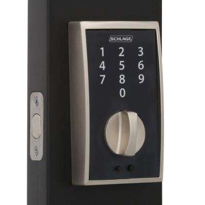 Century Satin Nickel Touch Electronic Deadbolt