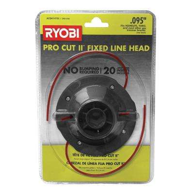 Universal Pro Cut ll 0.095 in. Fixed Line String Head