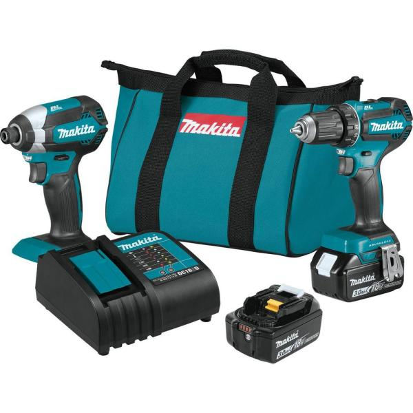 Makita 18-Volt LXT Lithium-ion Brushless Cordless 2-Piece Combo Kit 3.0Ah Driver-Drill/ Impact Driver