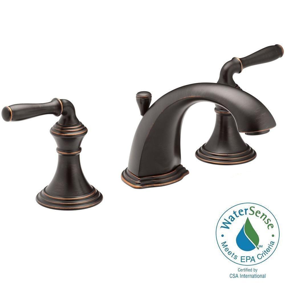 Devonshire 8 in. Widespread 2-Handle Low-Arc Bathroom Faucet in Oil-Rubbed Bronze