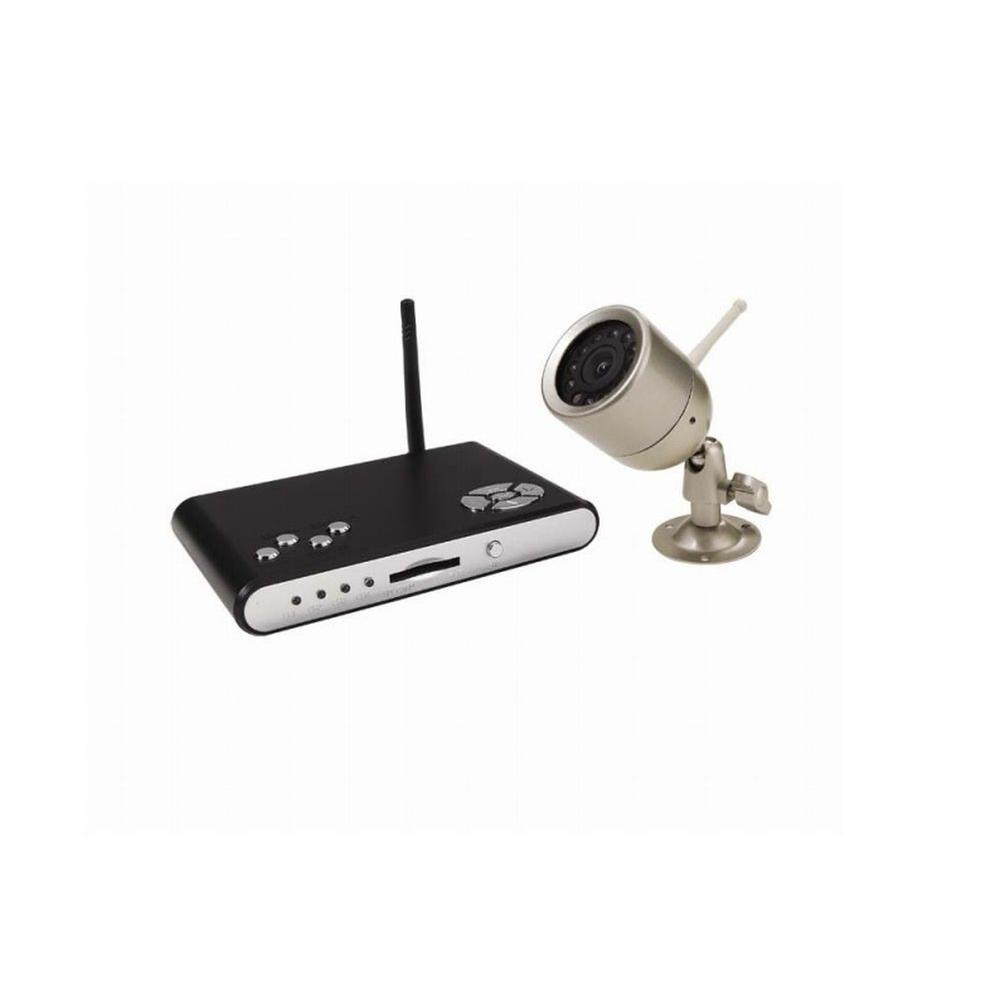 First Alert 4 CH 2GB SD Card Surveillance System with (1) 380 TVL Indoor/Outdoor Wireless Camera