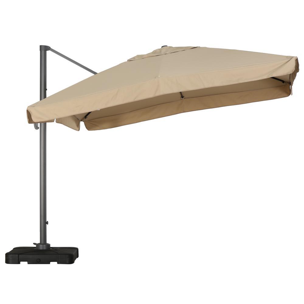 Merida 9-1/2 ft. Cantilever Patio Umbrella in Taupe