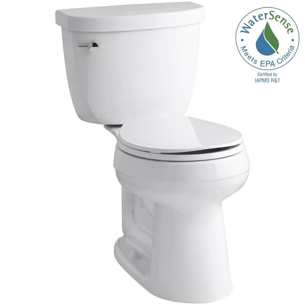 home depot kohler toilet. KOHLER Cimarron Complete Solution 2-piece 1.28 GPF Single Flush Round Toilet In White, Home Depot Kohler V