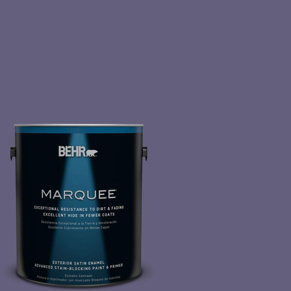BEHR MARQUEE 1-gal. #PMD-44 Twilight Dusk Satin Enamel Exterior Paint
