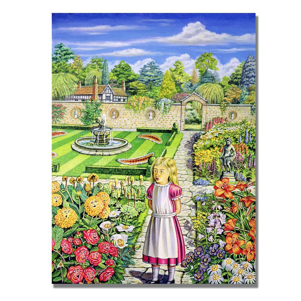Trademark Fine Art 24 in. x 32 in. The Garden of Live Flowers Canvas Art-DISCONTINUED