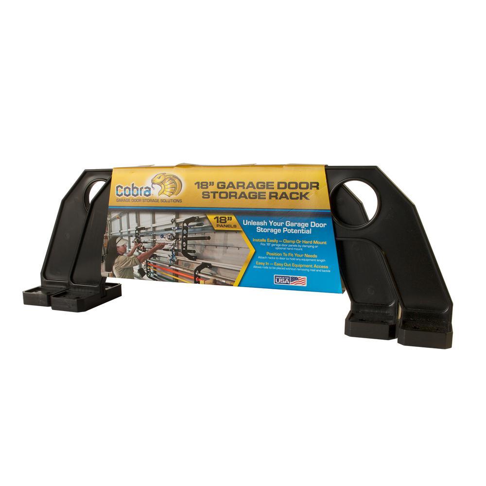 Cobra 5 Item 18 In Black Garage Door Storage Rack