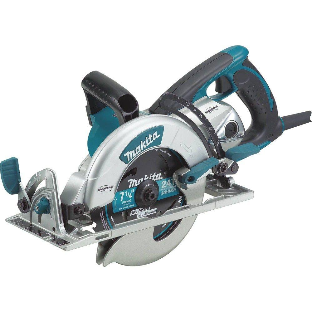 Makita 15 amp 7 14 in corded lightweight magnesium hypoid corded lightweight magnesium hypoid circular saw greentooth Image collections