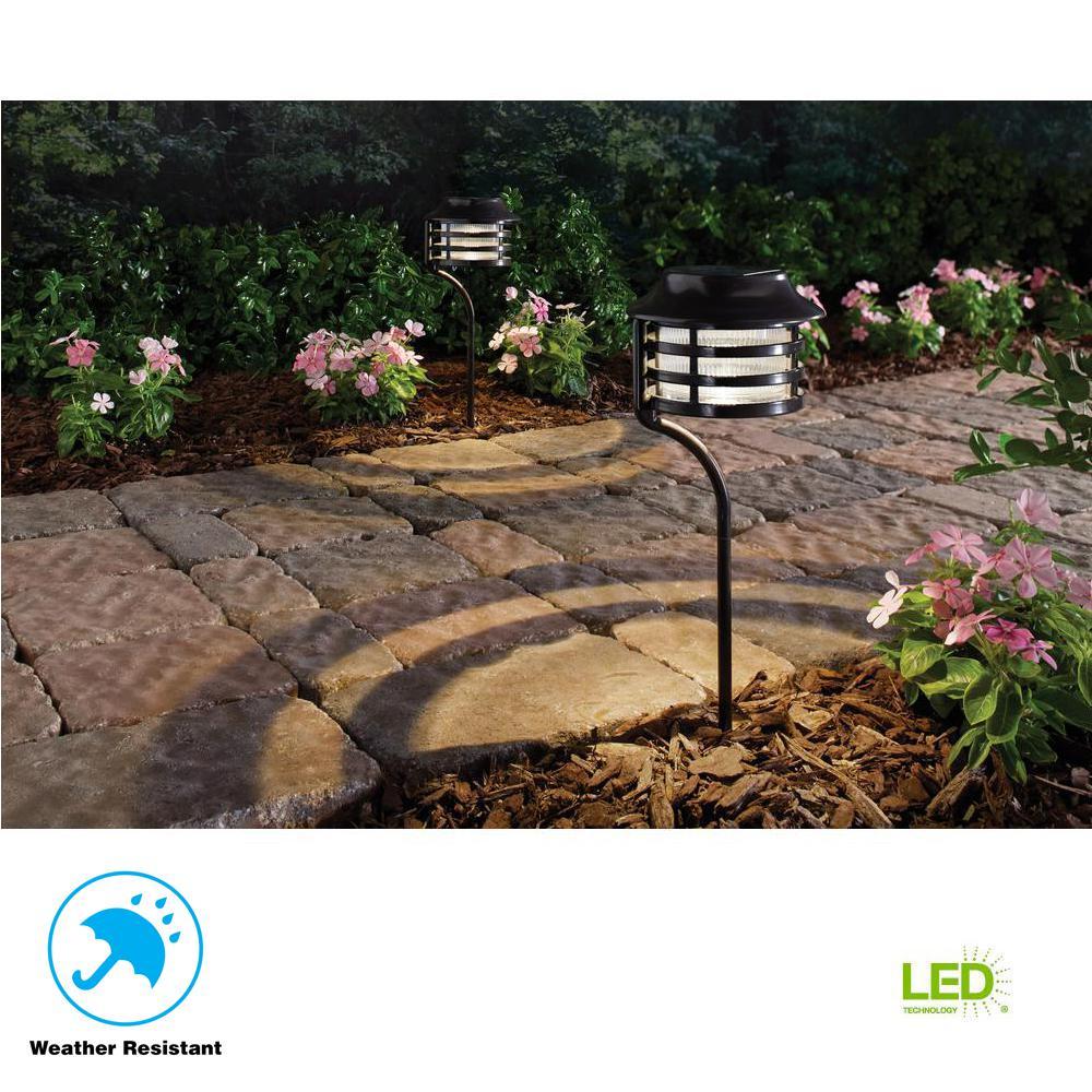 Hampton Bay Solar Bronze Outdoor Integrated LED New Age
