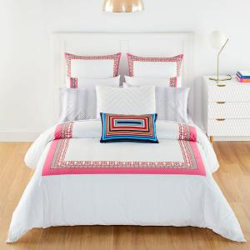 Theodora Pink Cotton 3-Piece King Duvet Set